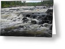 Wheelbarrow Falls Greeting Card by Larry Ricker