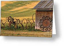Wheels Of The Palouse Greeting Card by Sandra Bronstein