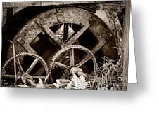 Wheels Of Time Greeting Card by Gabriela Insuratelu