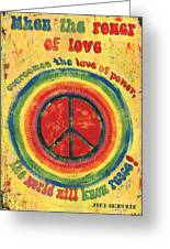 When The Power Of Love Greeting Card by Debbie DeWitt