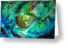 Whirlpool by MADART Greeting Card by Megan Duncanson