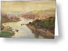 Whitby From Larpool Greeting Card by John Sowden