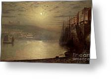 Whitby Greeting Card by John Atkinson Grimshaw