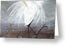 White Egret Greeting Card by KEVIN BRANT
