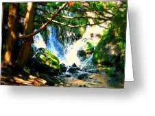 White Falls Greeting Card by Perry Webster