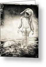 White Rabbit Greeting Card by Bob Orsillo