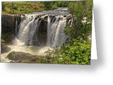 White River Falls Greeting Card by Connie Cooper-Edwards