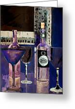 White Wine Inverted Greeting Card by Arline Wagner