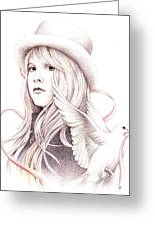 White Winged Dove Greeting Card by Johanna Pieterman