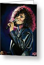 Whitney Houston Greeting Card by Tom Carlton