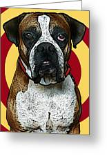 Wild Boxer 2 Greeting Card by Bibi Romer