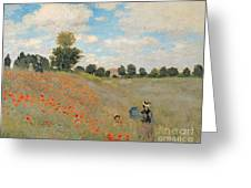 Wild Poppies Near Argenteuil Greeting Card by Claude Monet
