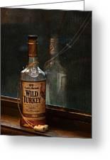Wild Turkey In Window Greeting Card by Brenda Bryant