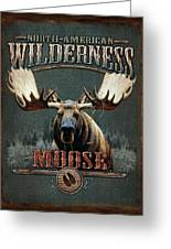 Wilderness Moose Greeting Card by JQ Licensing
