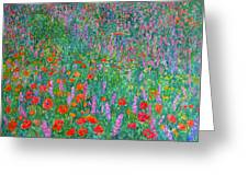 Wildflower Current Greeting Card by Kendall Kessler