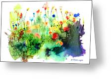 Wildflowers Greeting Card by Arline Wagner