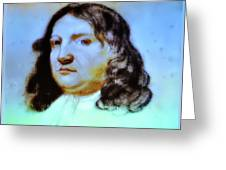 William Penn Portrait Greeting Card by Bill Cannon