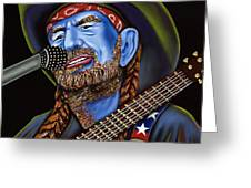 Willie Greeting Card by Nannette Harris