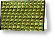 Wimbledon Seats Greeting Card by Sonia Stewart