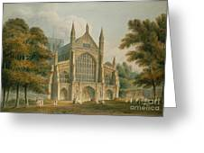 Winchester Cathedral Greeting Card by John Buckler