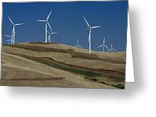 Wind Power Greeting Card by Todd Kreuter
