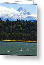 Wind Surfing Mt. Hood Greeting Card by David Lee Thompson