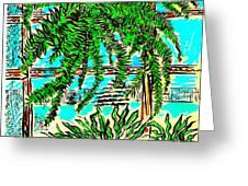 Window Loving Fern Greeting Card by Al Goldfarb