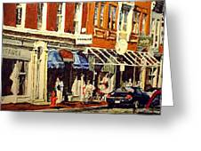 Window Shopping Greeting Card by Thomas Akers