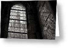Window To Mont St Michel Greeting Card by Dave Bowman