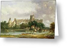 Windsor Castle - From The Thames Greeting Card by Alfred Vickers