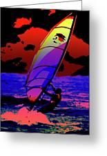 Windsurfer Greeting Card by Brian Roscorla