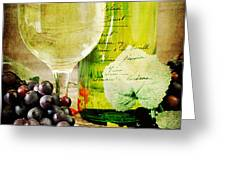 WIne Greeting Card by Darren Fisher