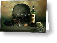 Wine For Two Greeting Card by Paul Walsh