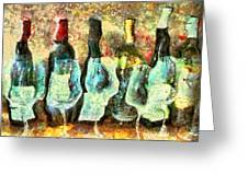 Wine On The Town Greeting Card by Marilyn Sholin