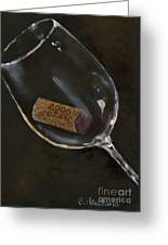 Wine With Dinner Greeting Card by Sheryl Heatherly Hawkins