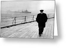 Winston Churchill At Sea Greeting Card by War Is Hell Store