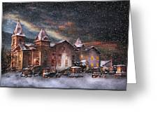 Winter - Clinton Nj - Silent Night  Greeting Card by Mike Savad