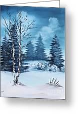 Winter Greeting Card by Barbara Teller