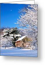 Winter Barn Scene-warren Ct Greeting Card by Thomas Schoeller