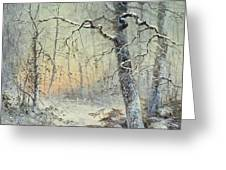 Winter Breakfast Greeting Card by Joseph Farquharson