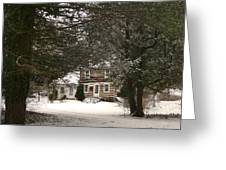 Winter Cottage Greeting Card by Gordon Beck