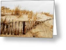 Winter Dune - Jersey Shore Greeting Card by Angie Tirado