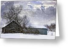 Winter Farm Greeting Card by Steve Harrington