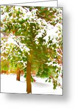 Winter In  Catskills Greeting Card by Lanjee Chee