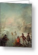 Winter Greeting Card by Jacques de Lajoue