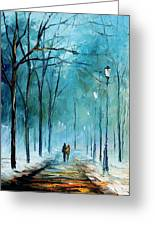 Winter Greeting Card by Leonid Afremov
