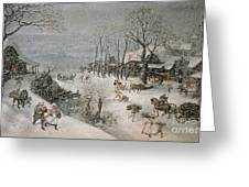 Winter Greeting Card by Lucas van Valckenborch
