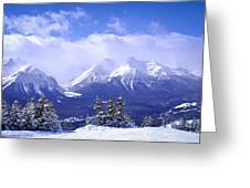 Winter Mountains Greeting Card by Elena Elisseeva