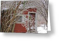 winter reading room Greeting Card by Kristine Nora