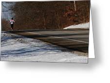 Winter Run Greeting Card by Linda Shafer